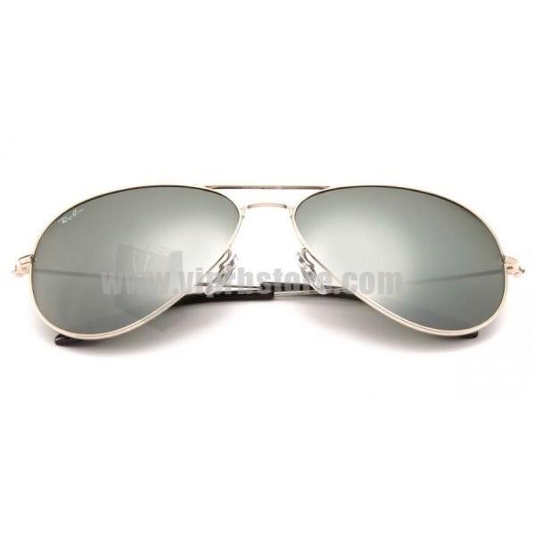 67fafee619159 Cheap Copy Ray Ban RB 3026 62-14 Aviator Large Metal II Silver Sale 80 Off